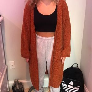 Orange Long sweater